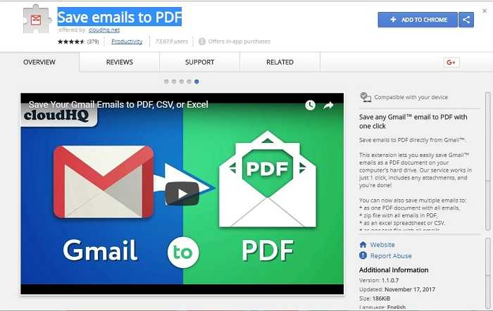 Download Save Emails to PDF 2019 Free Chrome Extension