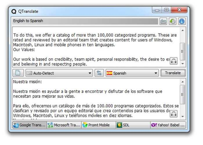 Download QTranslate 2021 Talking Dictionary Free for Windows
