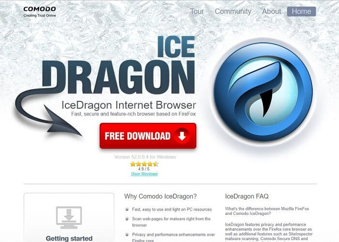 Download Comodo IceDragon Internet Browser 2019 Latest Free Version