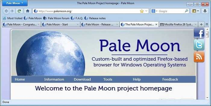 Download Pale Moon Browser 2021 Free for Windows & Linux