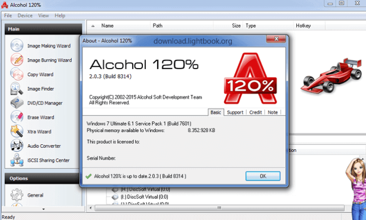 Download Alcohol 120% Burn CD and DVD Latest Free Version