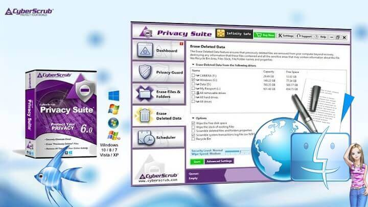 Download CyberScrub Privacy Suite 6.0 the Latest Free 2018 Version