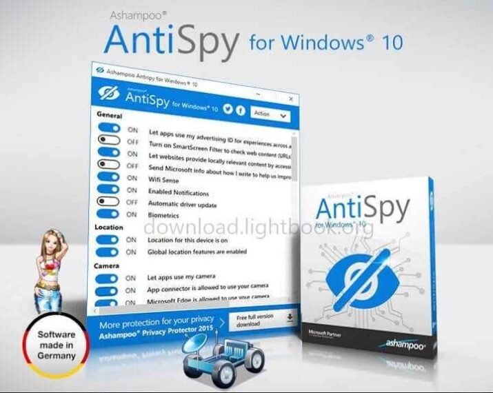 Download Ashampoo AntiSpy for Windows 10 Latest Free Version