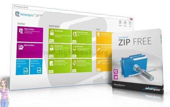 Descargar Ashampoo ZIP FREE Descifrar y Comprimir Archivos