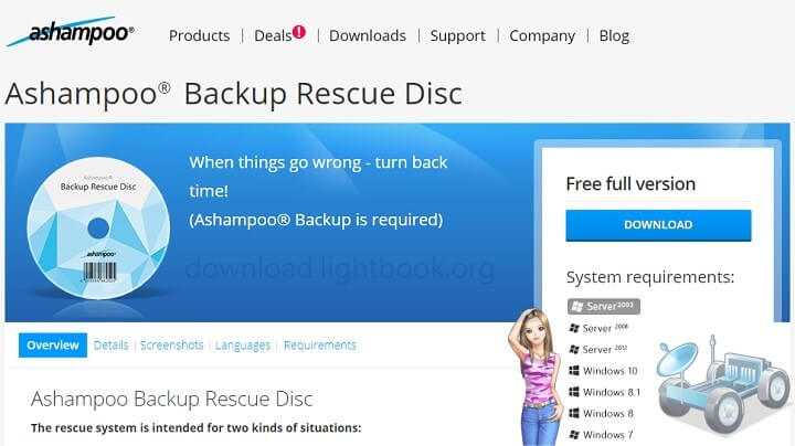 Ashampoo Backup Rescue Disc2021 Download for Windows