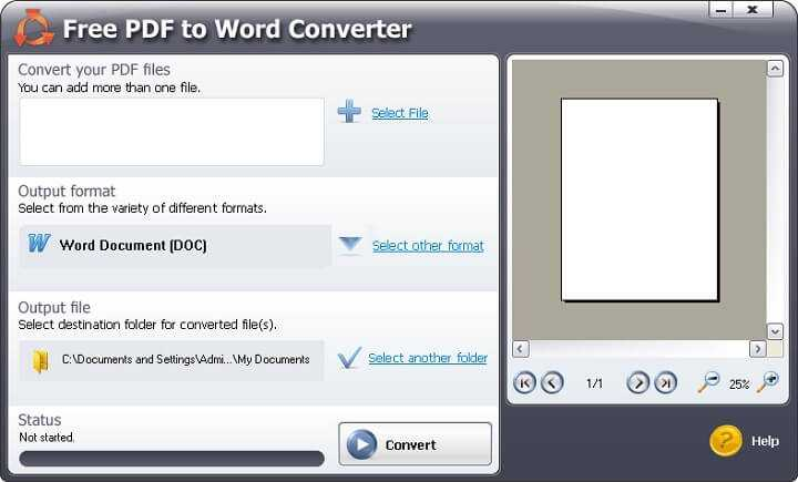 Baixar Free PDF to Word Converter para Windows 32/64-bit