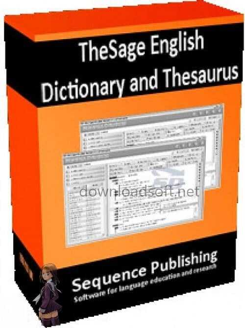 Télécharger TheSage English Dictionary & Thesaurus 2021