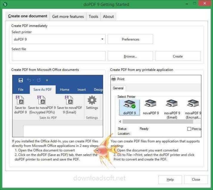 تحميل برنامج doPDF لإنشاء ملفات PDF وصور أخرى قابلة للطباعة