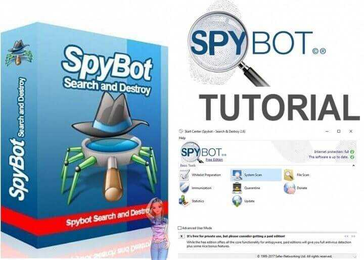 Download Spybot – Search and Destroy Anti-Spyware & Malware