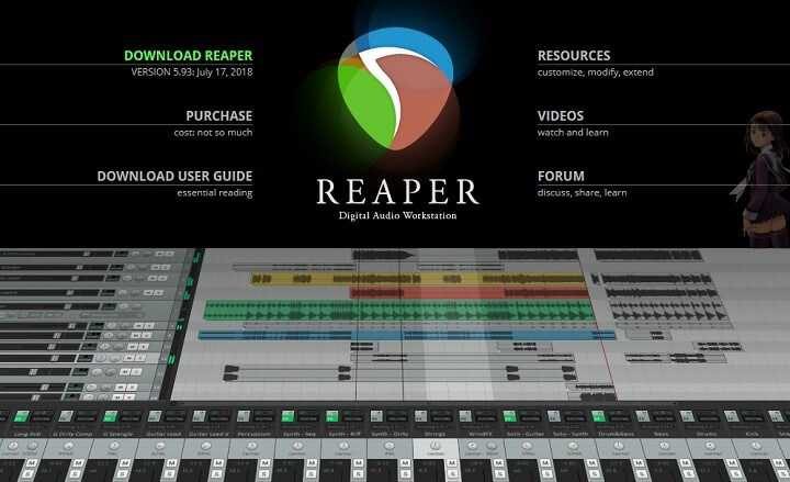 Descargar REAPER Audio Editor para Windows, Mac y Linux