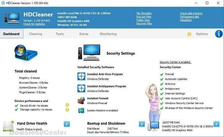 Download HDCleaner to Maintain, Clean Speed Up Windows PC
