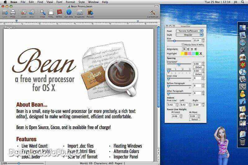 Download Bean Word Processor - Writing is Easy Free for Mac