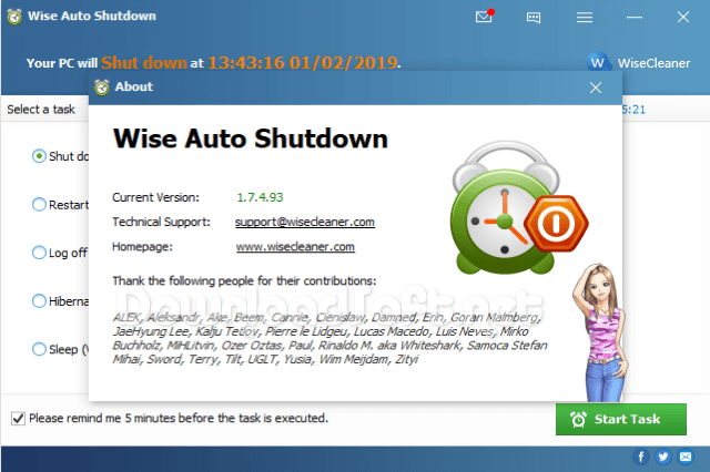Télécharger Wise Auto Shutdown Gratuit pour Windows