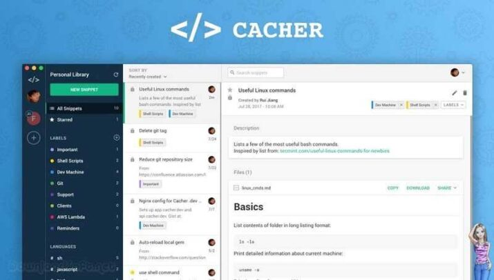 Download Cacher Free Quickest Way to Store Code Snippets