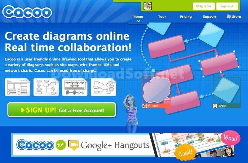 Photo of Cacoo Online Diagram Cloud-Based High-Quality Tools