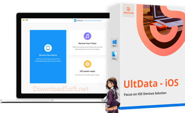 Download Tenorshare UltData iPhone Data Recovery Software