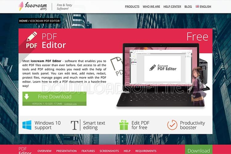 Download IceCream PDF Editor Free
