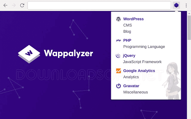 Wappalyzer Browser Extension
