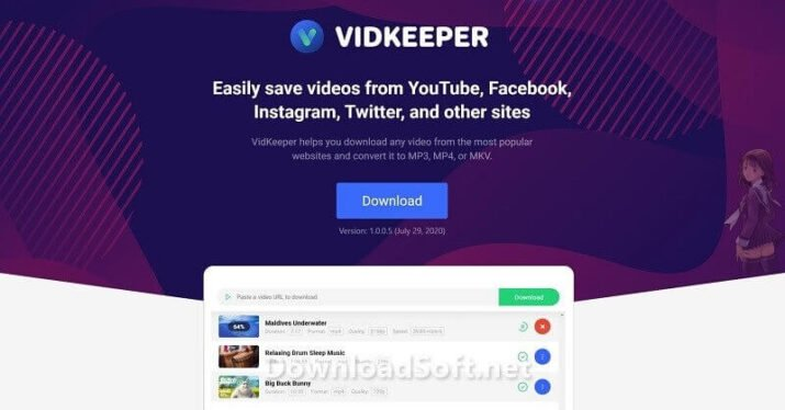 VidKeeper Free Download for Windows