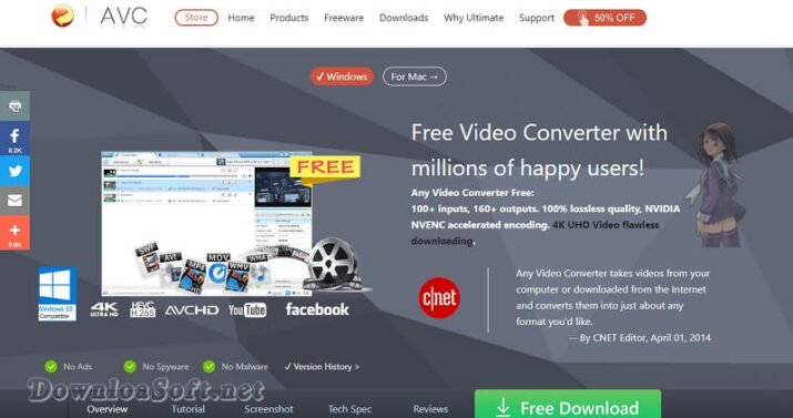 Download Any Video Converter Free for Windows and Mac